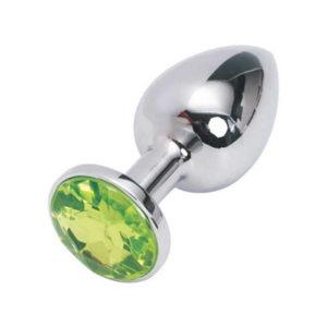 Купить Анальная пробка с кристаллом 169-SG1 в интернет магазине интимных товаров JoyToy