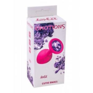 Купить Анальная пробка силиконовая с кристаллом Cutie Small – 4011-01 в интернет магазине интимных товаров JoyToy