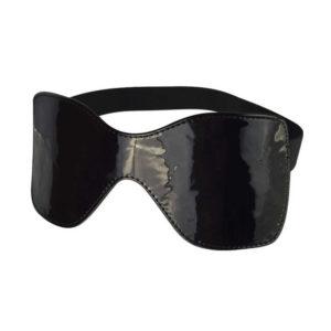 Купить Маска закрытая лаковая из искусственной кожи на резинке – 5037-10 в интернет магазине интимных товаров JoyToy