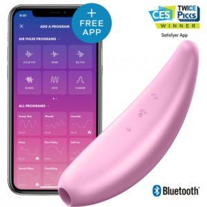 Купить Вакуумный массажер с вибрацией 001890SA Satisfyer Curvy 3 Plus в интернет магазине интимных товаров JoyToy