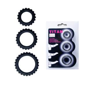 Купить Эрекционное кольцо из набора 1 шт. 210143 в интернет магазине интимных товаров JoyToy