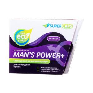 Купить Возбуждающее средство SuperCaps Man's Power Plus (10 капсул) для мужчин – 150129 в интернет магазине интимных товаров JoyToy