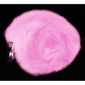 Купить Металлическая анальная пробка с розовым хвостом 002M2 в интернет магазине интимных товаров JoyToy