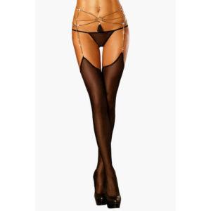Купить Чулки с поясом 1020 GLAMOUROUS в интернет магазине интимных товаров JoyToy