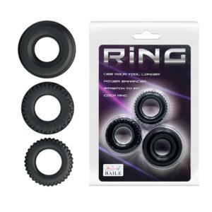 Купить Эрекционное кольцо из набора 1 шт. 210179 в интернет магазине интимных товаров JoyToy