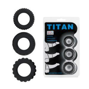 Купить Эрекционное кольцо из набора 1 шт. 210148 в интернет магазине интимных товаров JoyToy